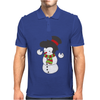 Snowman With Elvis Presley Type Quiff Hair Smiling Christmas Mens Polo