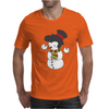 Snowman With Elvis Presley Type Quiff Hair Smiling Christmas Mens T-Shirt