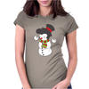 Snowman With Elvis Presley Type Quiff Hair Smiling Christmas Womens Fitted T-Shirt