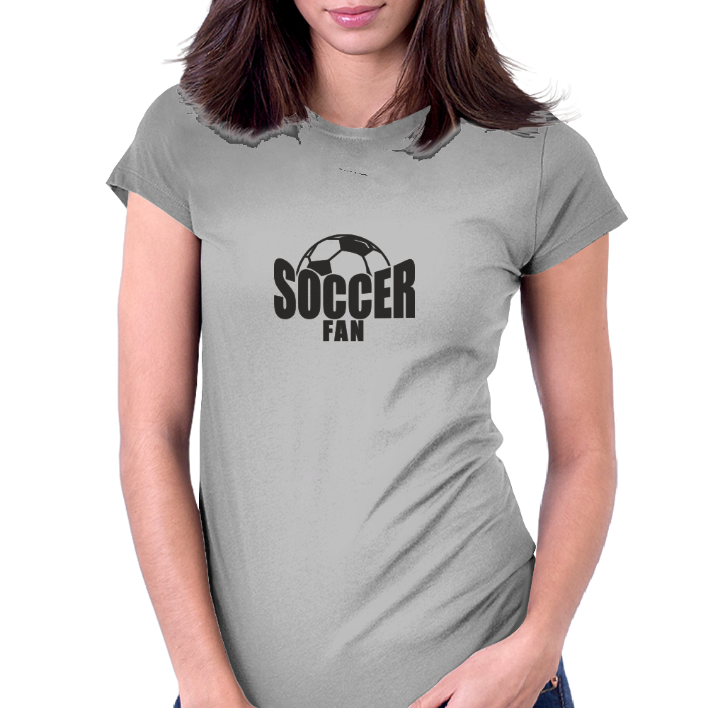 Soccer Fan Womens Fitted T-Shirt