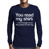 SOCIALIZING Mens Long Sleeve T-Shirt