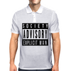 Society Advisory Explicit Man Mens Polo