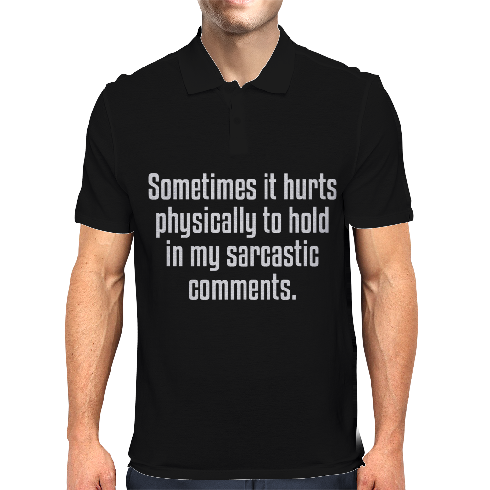 Some time it hurts Mens Polo