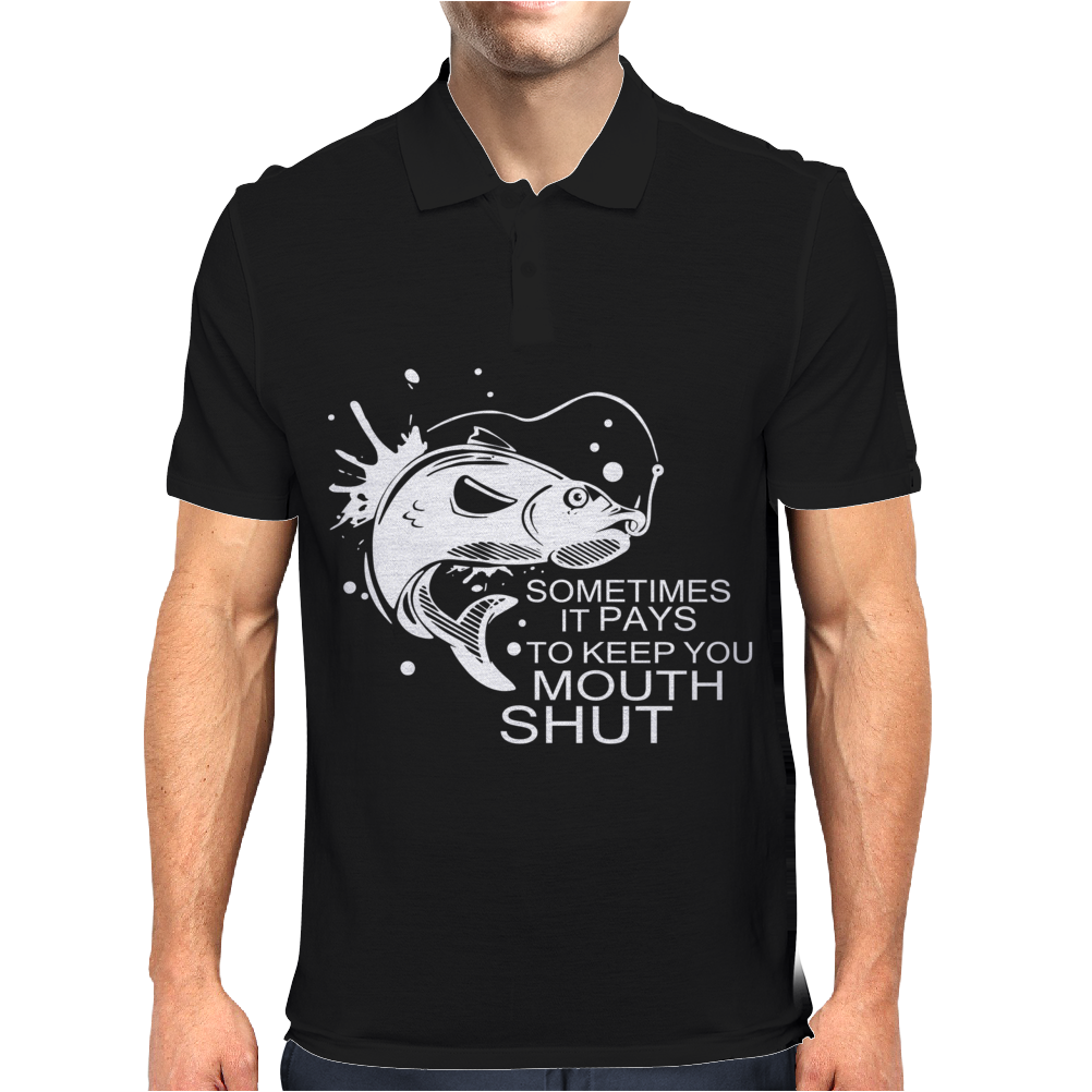 some times keep mouth shut Mens Polo