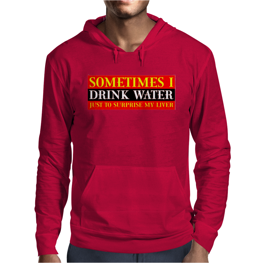 Sometimes I Drink Water, Ideal Gift, Birthday Present Mens Hoodie
