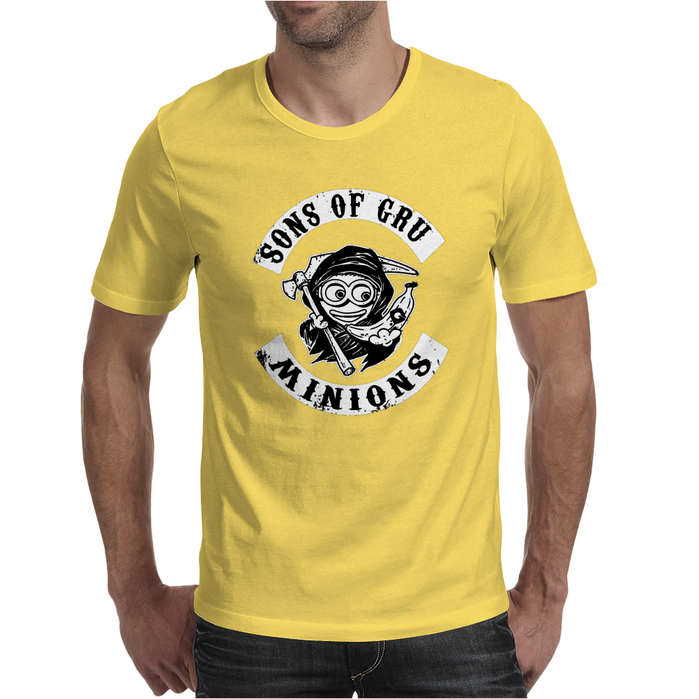 Son of Gru Minion T-Shirt Schwarz Figur, Trickfilm, Minions Fun, Mens T-Shirt