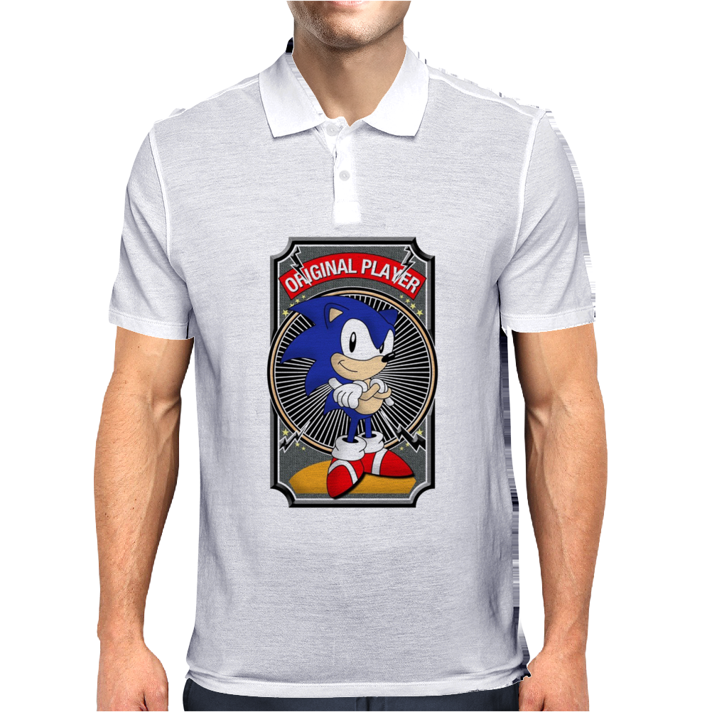 Sonic The Hedgehog Original Player Ideal Birthday Present or Gift Mens Polo
