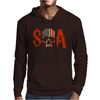 Sons of Anarchy SOA Tv Show Skull Reaper American Flag Mens Hoodie