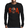 Sons of Anarchy SOA Tv Show Skull Reaper American Flag Mens Long Sleeve T-Shirt