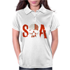 Sons of Anarchy SOA Tv Show Skull Reaper American Flag Womens Polo