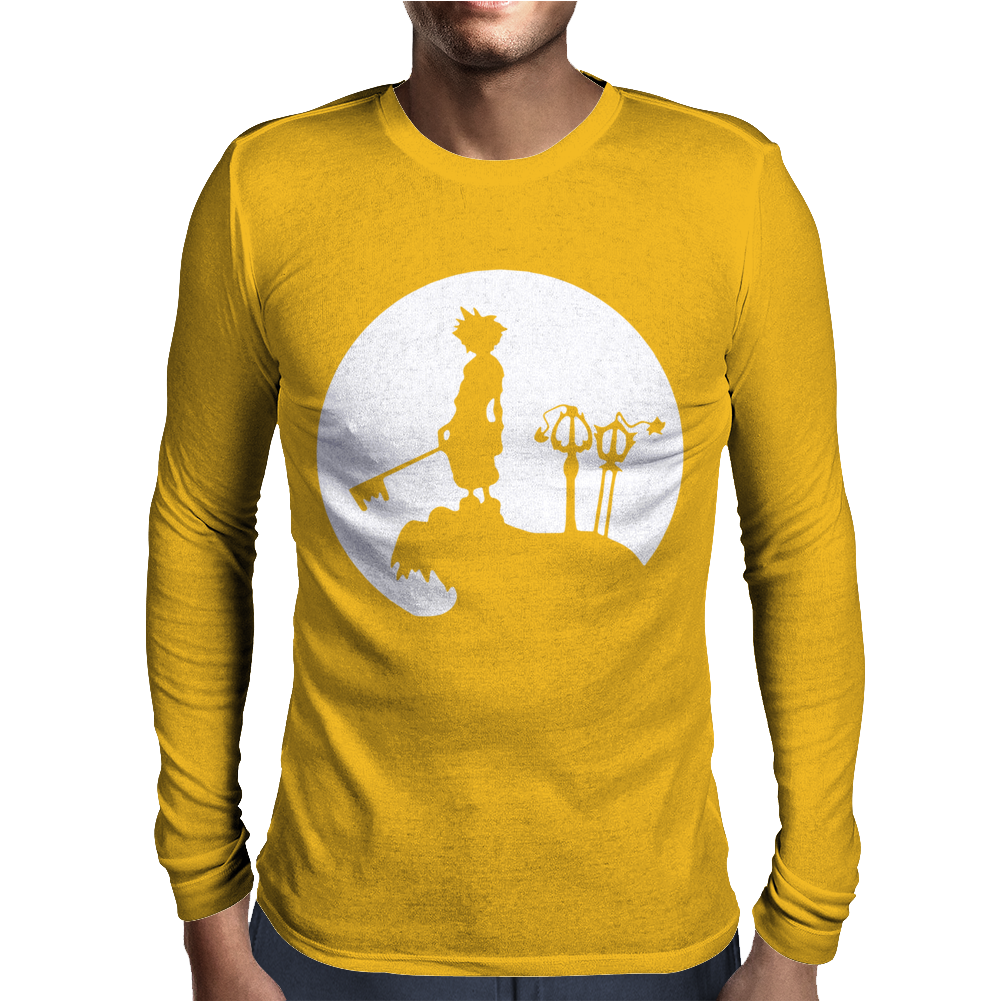 Sora Moon kingdom Hearts Mens Long Sleeve T-Shirt