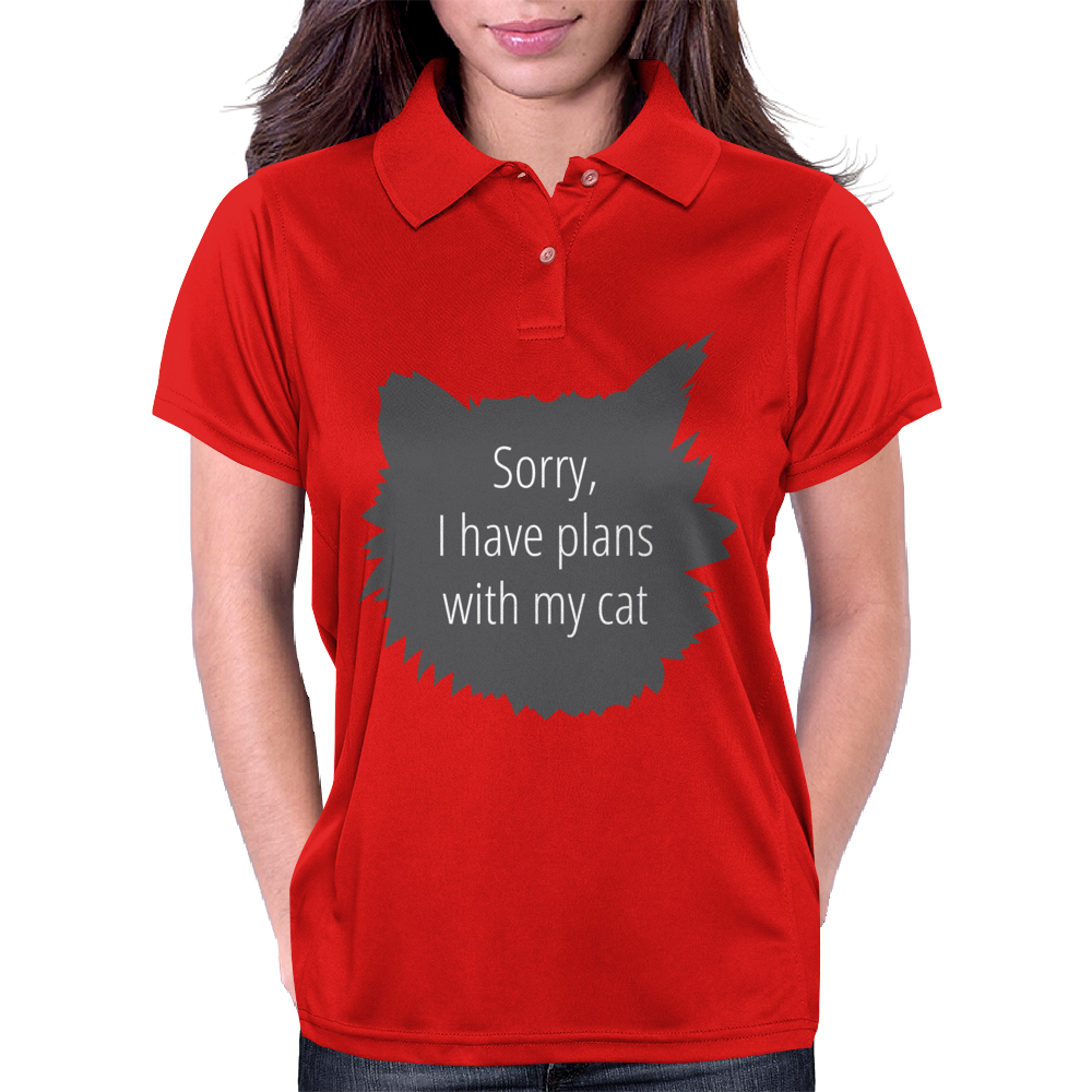 Sorry, I have plans with my cat Womens Polo