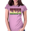 Sound Activated Flashing Light Womens Fitted T-Shirt