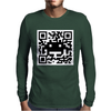 Space Alien QR Code Mens Long Sleeve T-Shirt
