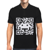 Space Alien QR Code Mens Polo