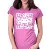 Space Alien QR Code Womens Fitted T-Shirt
