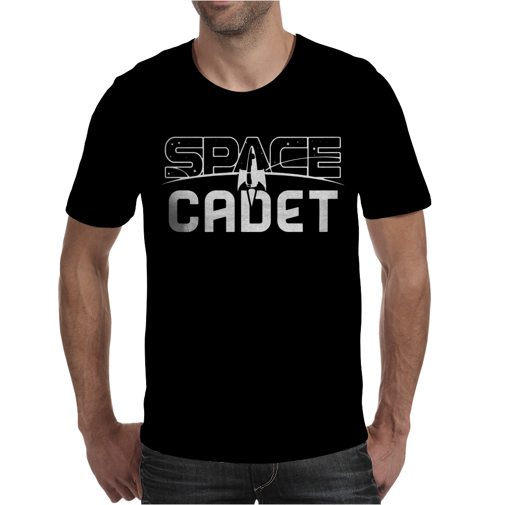 Space Cadet Space Ship Mens T-Shirt
