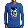 Space Cat Astronaut Mens Long Sleeve T-Shirt