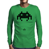 Space Invader Black Mens Long Sleeve T-Shirt