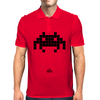 Space Invader Black Mens Polo