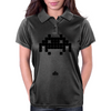 Space Invader Black Womens Polo