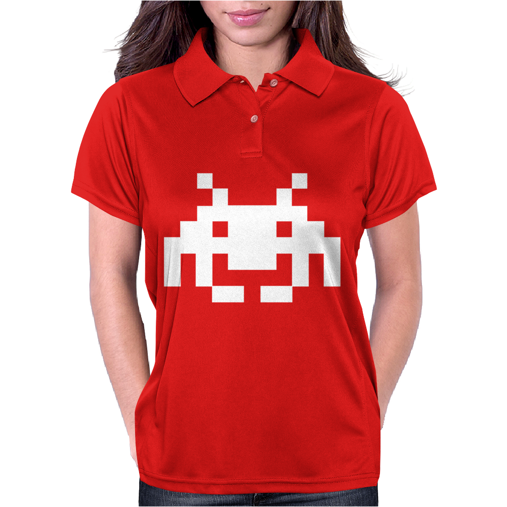 Space Invaders Womens Polo