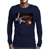 Space Mouse Pad Mousepad Galaxy Nebula Stars Planets Beautiful Mens Long Sleeve T-Shirt