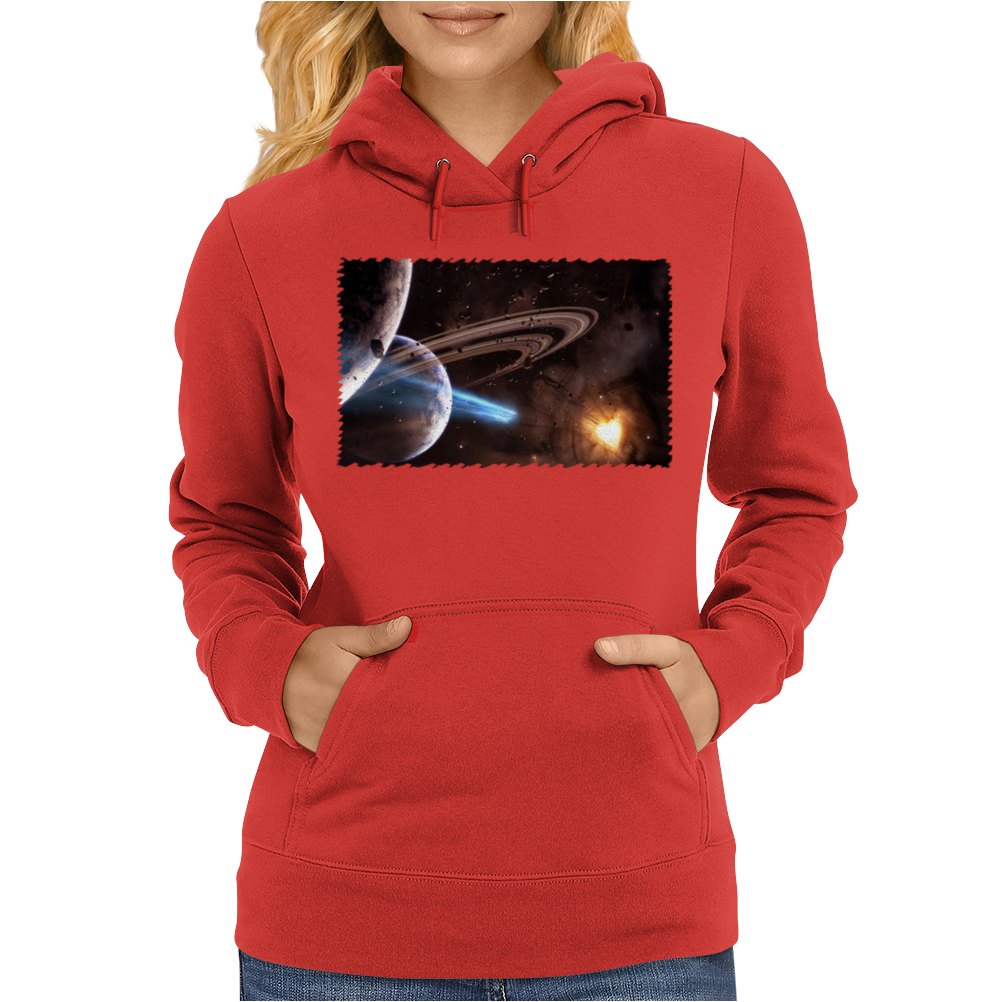Space Mouse Pad Mousepad Galaxy Nebula Stars Planets Beautiful Womens Hoodie