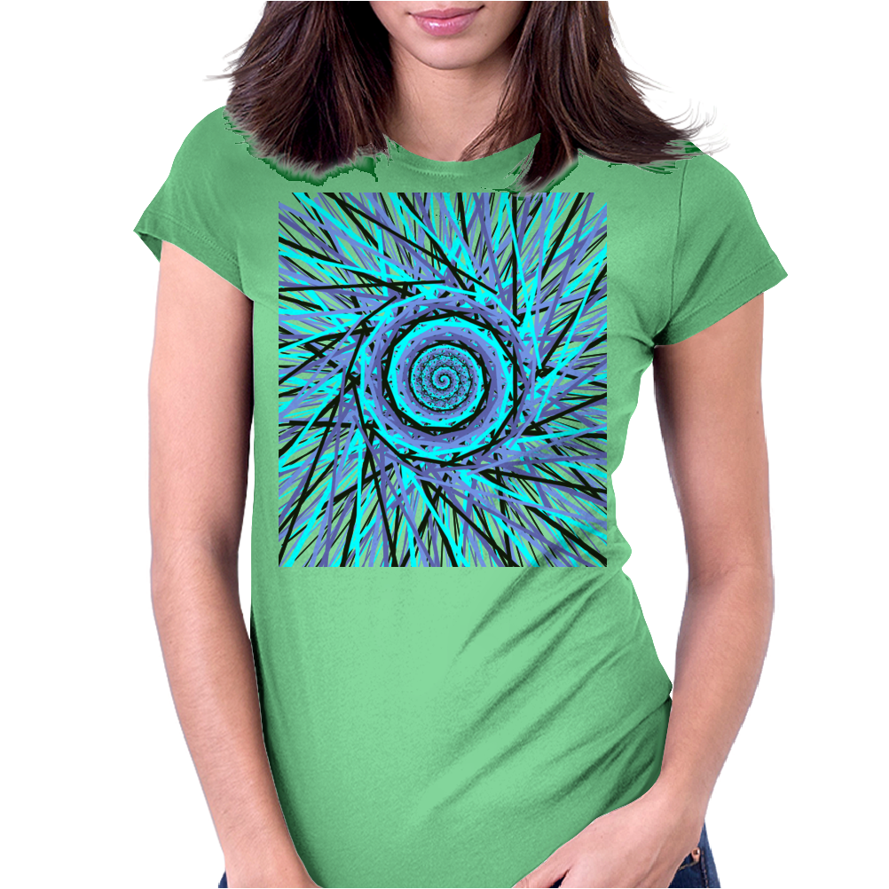 Space-Swirl Womens Fitted T-Shirt