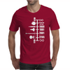 Spaceship Timeline Mens T-Shirt