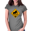 Speedway road sign Womens Fitted T-Shirt