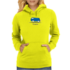 Speedy Vanagon Caravelle Transporter Combi Blue Womens Hoodie