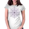 Spider Web Womens Fitted T-Shirt