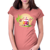 Splitty on surfboard Womens Fitted T-Shirt