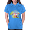Splitty on surfboard Womens Polo
