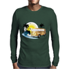 Splitty on the beach - retro van holidays Mens Long Sleeve T-Shirt