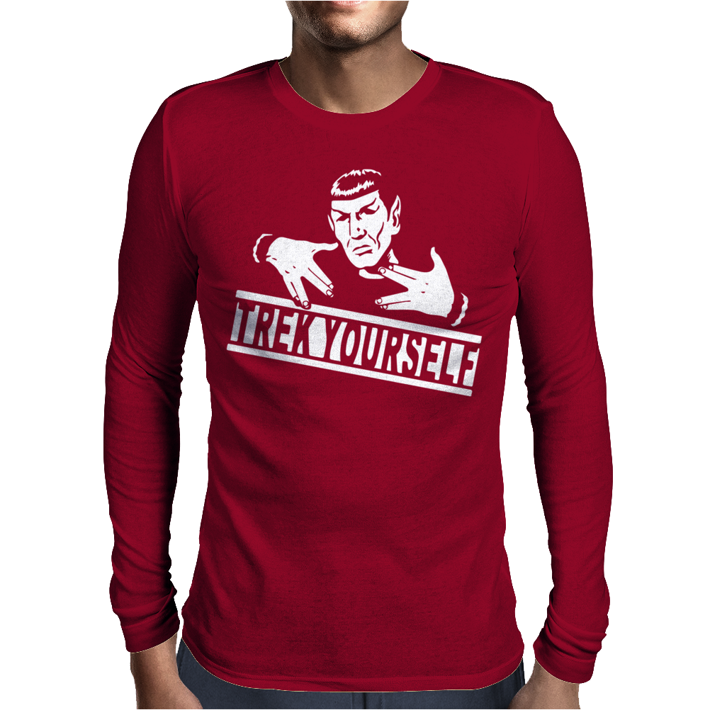 Spocky Trek Yourself  Funny Mens Long Sleeve T-Shirt