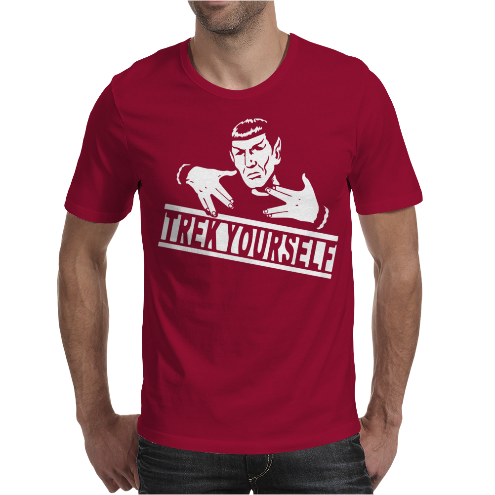 Spocky Trek Yourself  Funny Mens T-Shirt