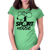 Sport Mouse Positive Womens Fitted T-Shirt