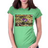 springtime crocus lilac levander easter garden Womens Fitted T-Shirt