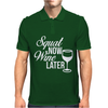 Squat Now Wine Later Mens Polo