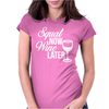 Squat Now Wine Later Womens Fitted T-Shirt