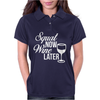 Squat Now Wine Later Womens Polo