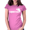 SQUATCH FOOTPRINT funny Womens Fitted T-Shirt