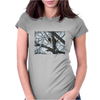 Squirrel preparing for winter. Womens Fitted T-Shirt