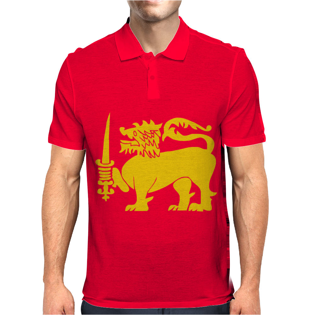 Sri Lanka International  National Country Lion Sport Flag Mens Polo