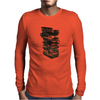 Stack of Retro Cassette Tapes Mens Long Sleeve T-Shirt