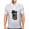 Stack of Retro Cassette Tapes Mens Polo