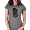 Stack of Retro Cassette Tapes Womens Fitted T-Shirt