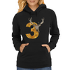 Stag No.3 Womens Hoodie